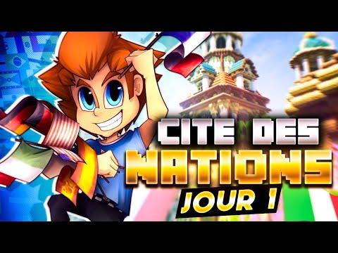 CITÉ DES NATIONS : La plus grosse Cité au MONDE : 5 Pays, 100 Joueurs ! #01 🌎