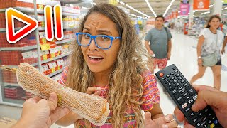 DESAFIO DO PAUSE NO MERCADO!! - (VERGONHOSO) - KIDS FUN