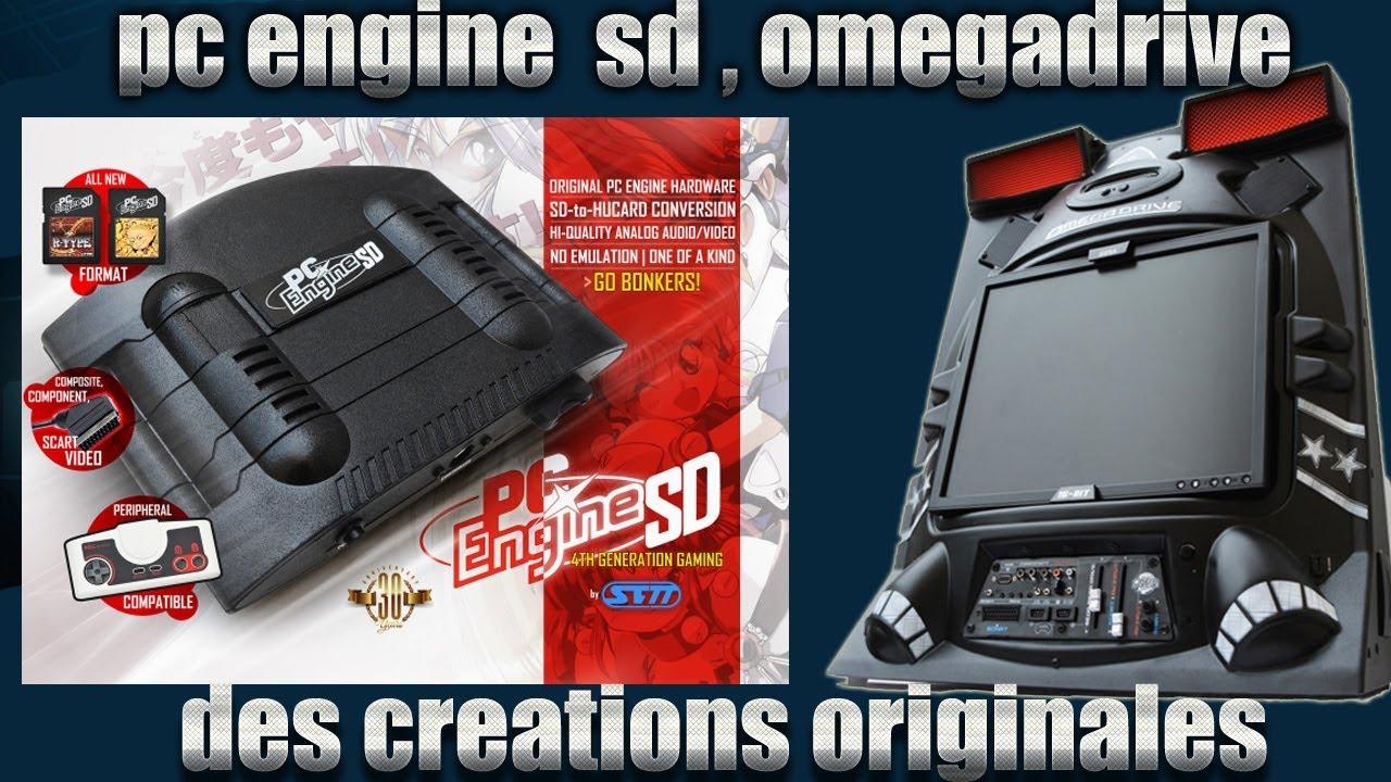 Omegadrive, starforce neo geo, pc engine SD des créations originales