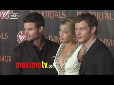 Claire Holt With Joseph Amp Daniel At Immortals World Premiere Arrivals Youtube