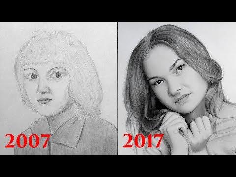 видео: Как я рисовал в детстве?  Мой прогресс за 10 лет.