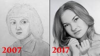 Как я рисовал в детстве?  Мой прогресс за 10 лет.