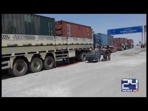 24 Report: Afghanis protest against Pakistan near Pak Afghan Border