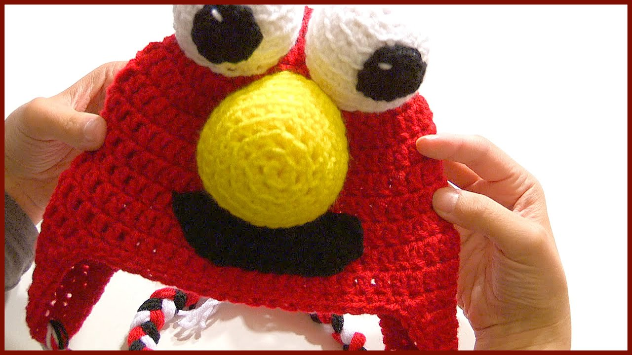e67cefccd96 How To Crochet a ELMO Character Hat Tutotial Step By Step - YouTube