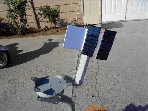 Home-made Solar Tracking System with no electronics for solar panel