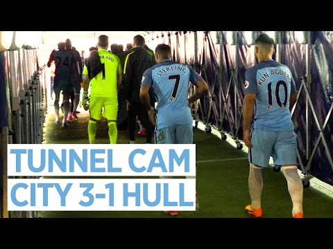 TUNNEL CAM | MAN CITY 3-1 HULL CITY