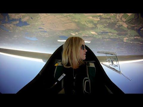 Emma Svensson flying Glider Aerobatics