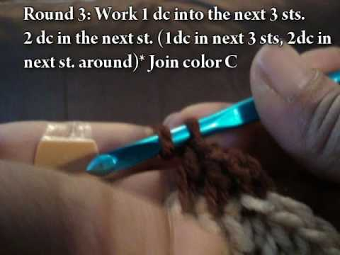 Crochet Tutorial #2 Medium Rasta Tam Video#1 Intro through row 3
