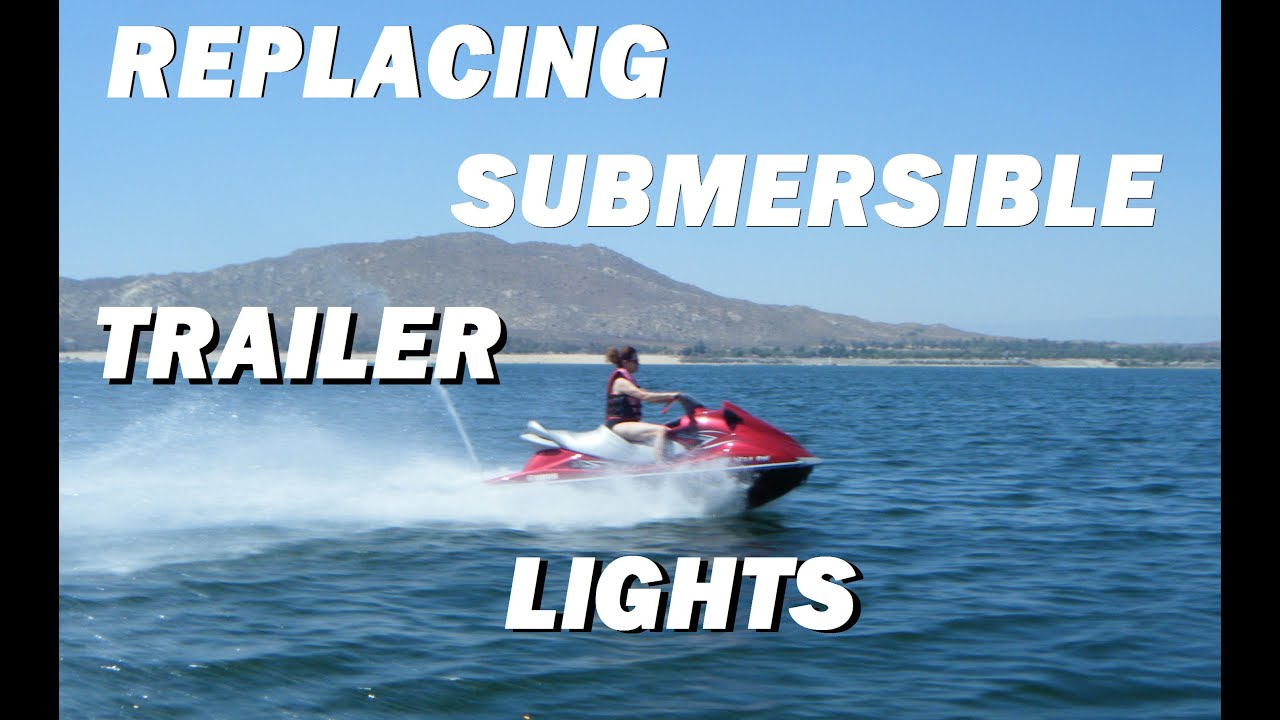 Boat/watercraft Trailer Light Replacement How-to - YouTube