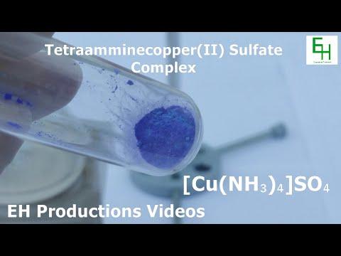 Make The Tetraamminecopper(II) Sulfate Complex (Powder)