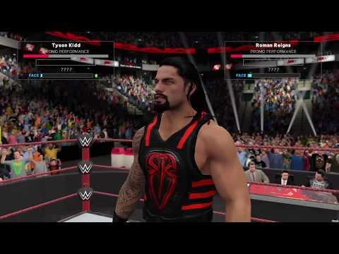 WWE 2K17 Universe Mode Roman Reigns Calls Out Universal Champion Tyson Kidd on RAW