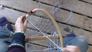 Snowshoe Weaving Part 13: Bearpaw Heel Wrap