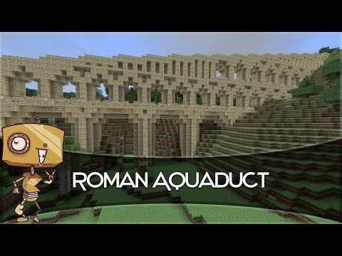 Roman Aqueduct System On Minecraft