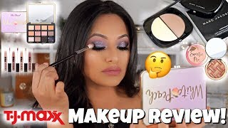 TJ MAXX MAKEUP First Impressions/ REVIEW!! Testing high end makeup!