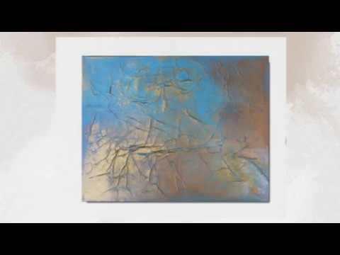 Modern Abstract Art Painting GILDED EARTH KR Moehr – Quick View