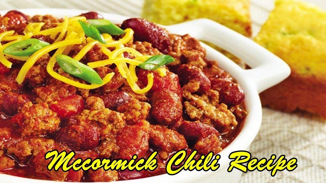 Mccormick Chili Recipe Youtube