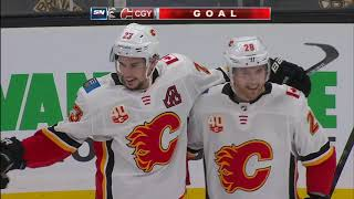 Monahan, Backlund each score twice as Flames top Bruins