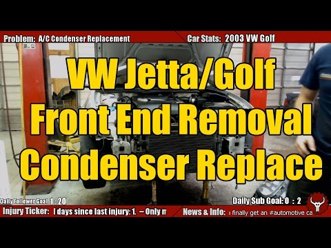 VW Golf Front End Removal and Condenser Replacement