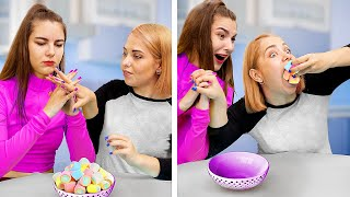 Когда девушка на диете / Вкусная еда против полезной