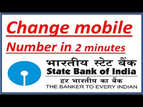 change your registered mobile number in SBI account online