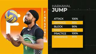 Sports Intro || Harkamal Singh (Kamal Jump) || Volleyball Player || Fine Sports