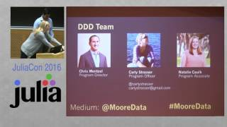 JuliaCon 2016 | A Word From Sponsors | Moore Foundation, NumFOCUS