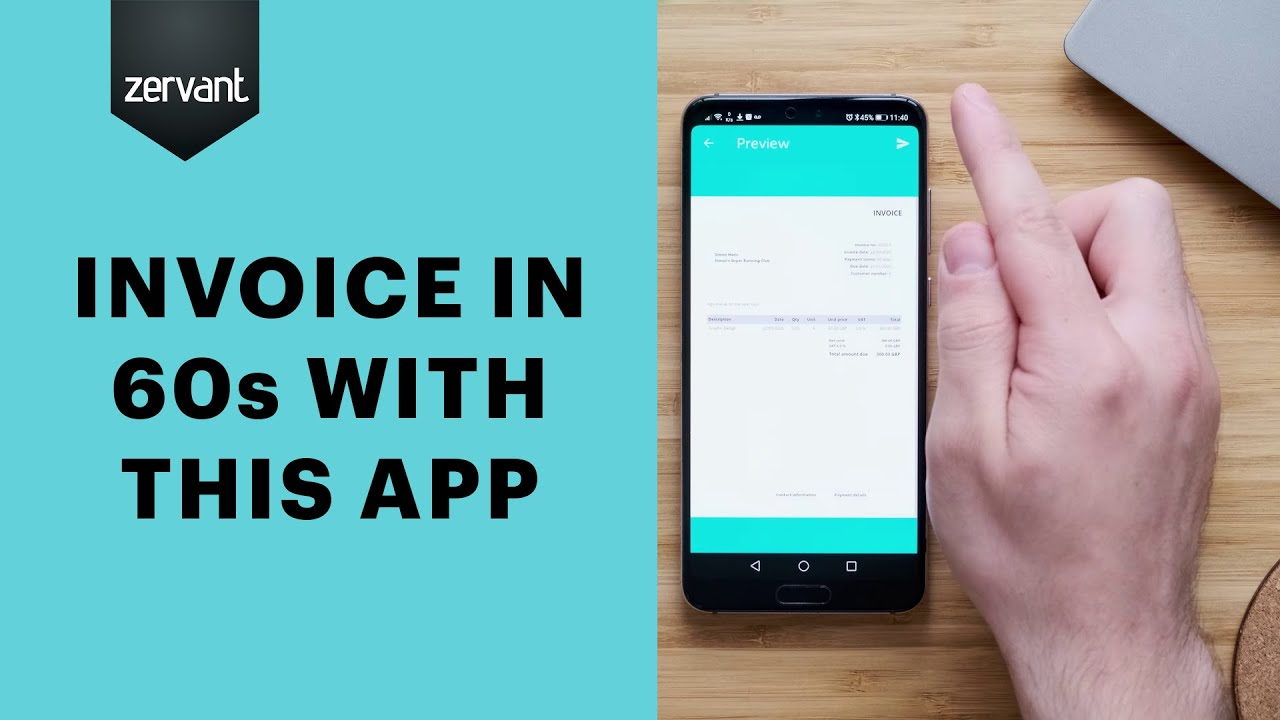 invoicing apps  invoice for free with zervant's mobile app   get it now on ios & android - youtube