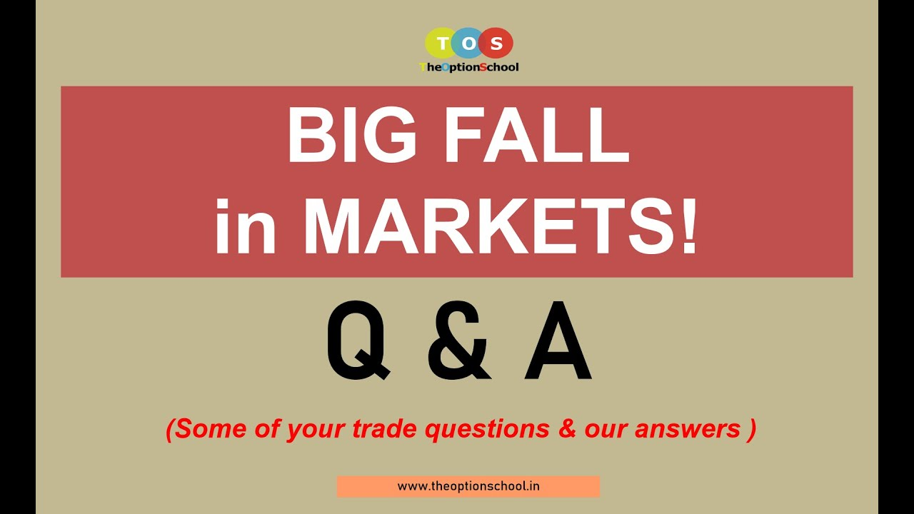 Big fall in Nifty/Banknifty - Your questions & our answers by The Option School