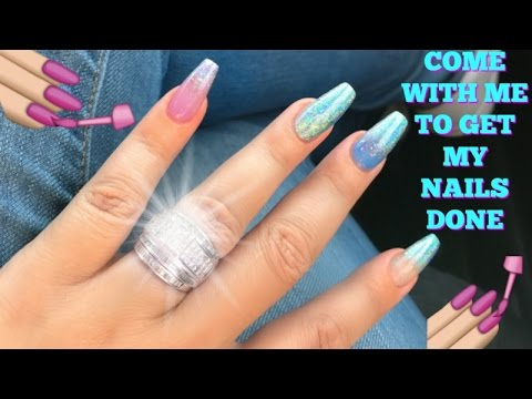 Come with me to get my nails done !! GALAXY CHROME NAIL ART VLOG ...