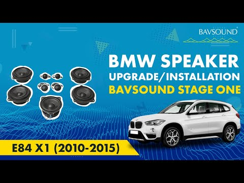 BAVSOUND - BMW E84 X1 (2010-2015) Stage One Speaker Upgrade Install Video Guide