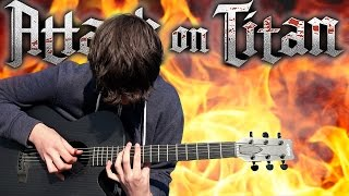 Gambar cover Attack on Titan S2 Opening - Shinzou wo Sasageyo! - Fingerstyle Guitar Cover - 進撃の巨人 OP3