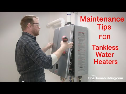 Tankless Water-Heater Maintenance