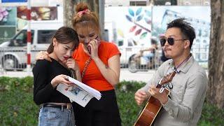 Tự sáng tác Tự đàn tặng Gái Xinh | Freestyle Serenading Hot Girls