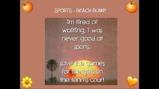 sports by beach bunny (lyrics)
