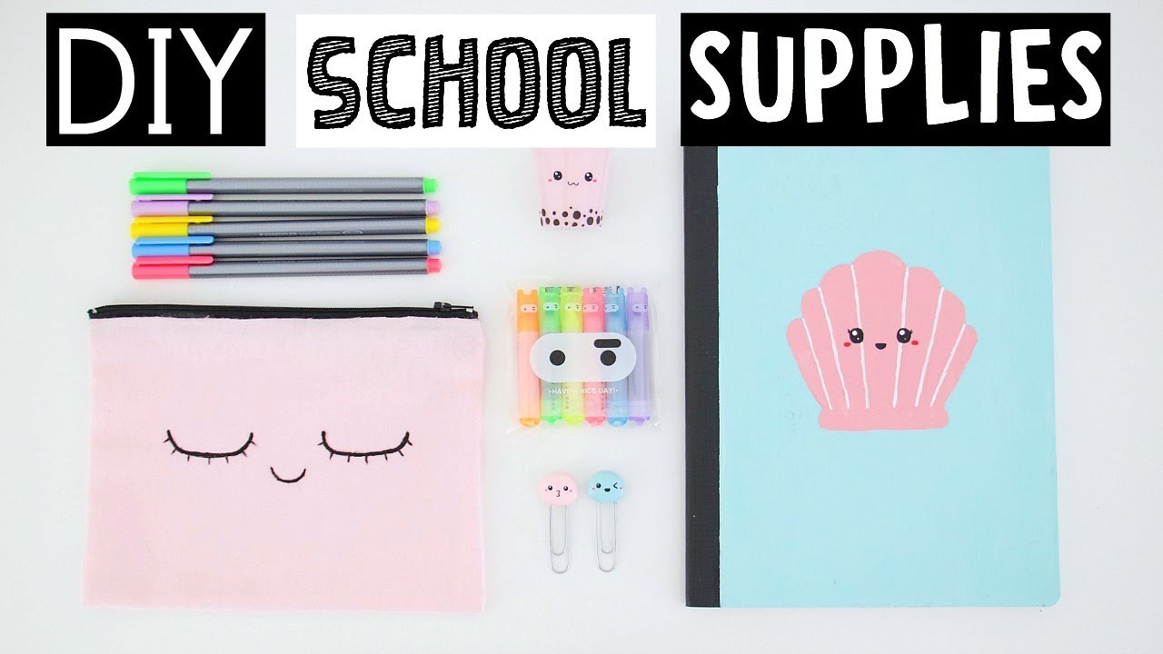 Nice Diy School Part - 12: MY FAVORITE DIY SCHOOL SUPPLIES For Back To School 2017!