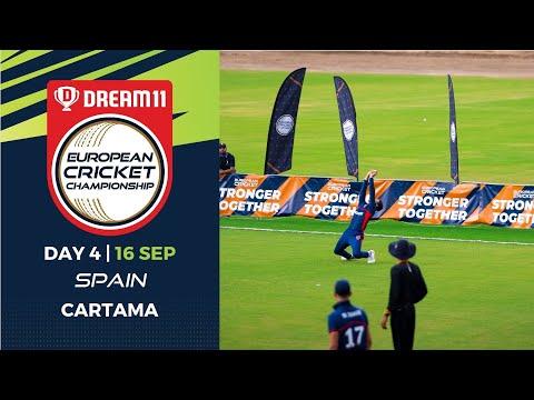 🔴 Dream11 European Cricket Championship | Day 4 Cartama Oval Spain | T10 Live Cricket