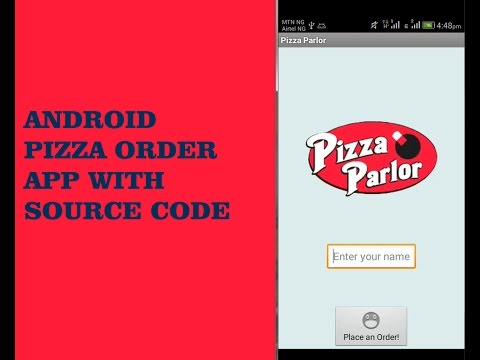 ANDROID PIZZA ORDER APP WITH SOURCE CODE