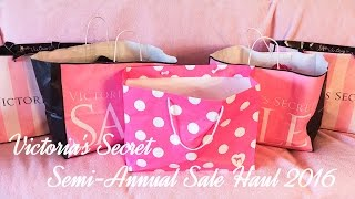 HUGE!! Victoria's Secret Semi-Annual Sale Haul 2016