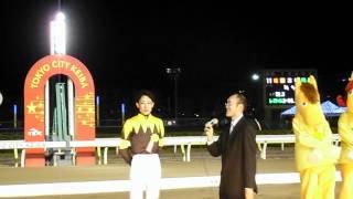 本橋孝太騎手 第58回東京ダービー 優勝騎手インタヴュー 平成24年6月6日