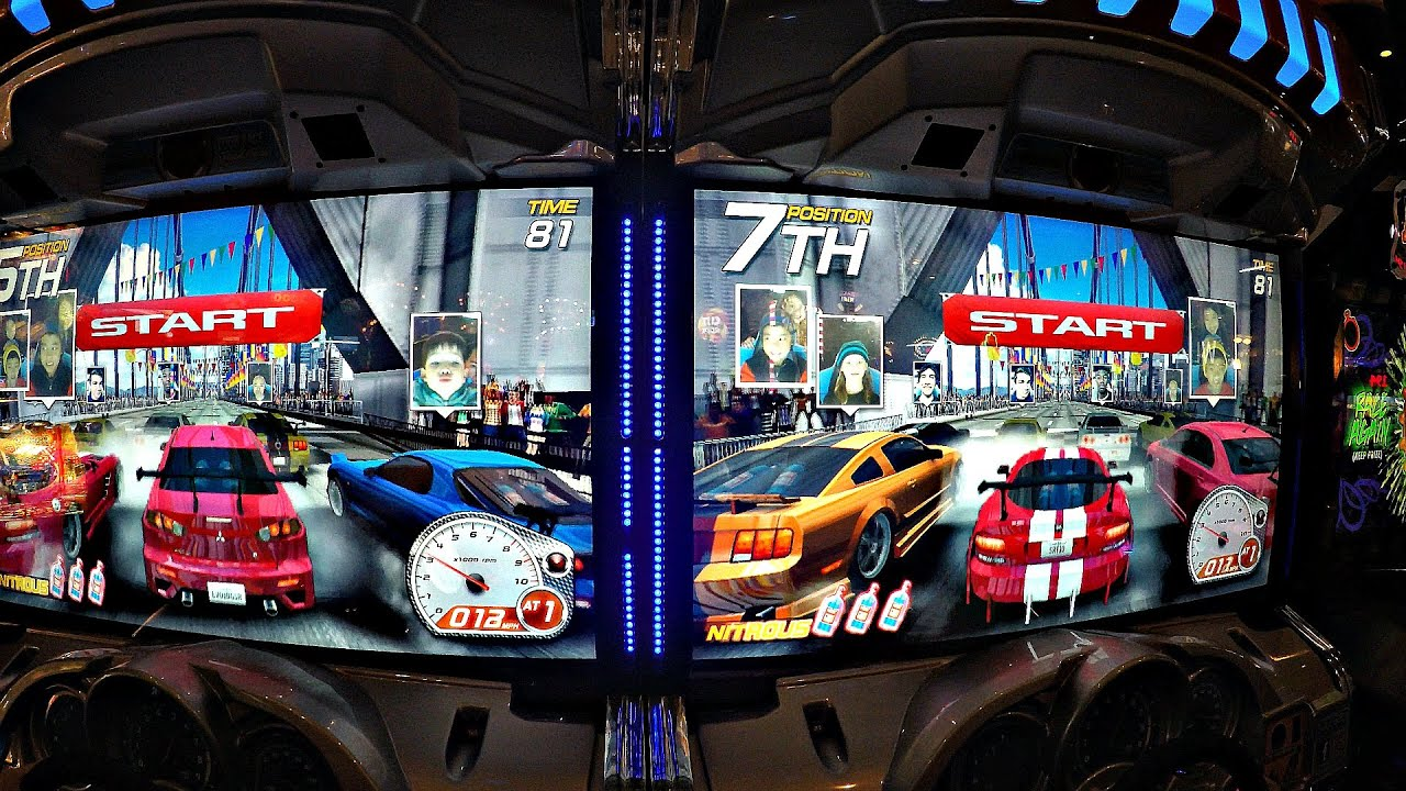 Dead Heat Street Racing Arcade Game Dual Screen Video Game Youtube