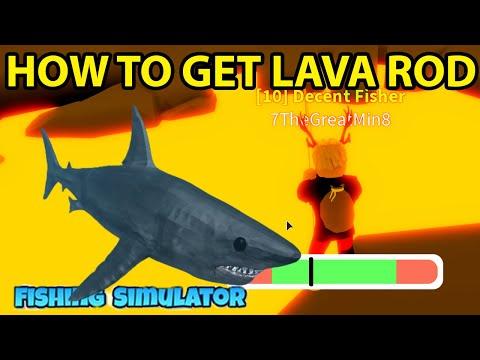 Roblox Fishing Simulator How To Get Volcano Obby Shark Aquarium Lava Rod Legendary Codes Gems 2020