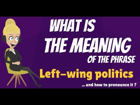 What is LEFT-WING POLITICS? LEFT WING POLITICS meaning - LEFT-WING POLITICS definition -