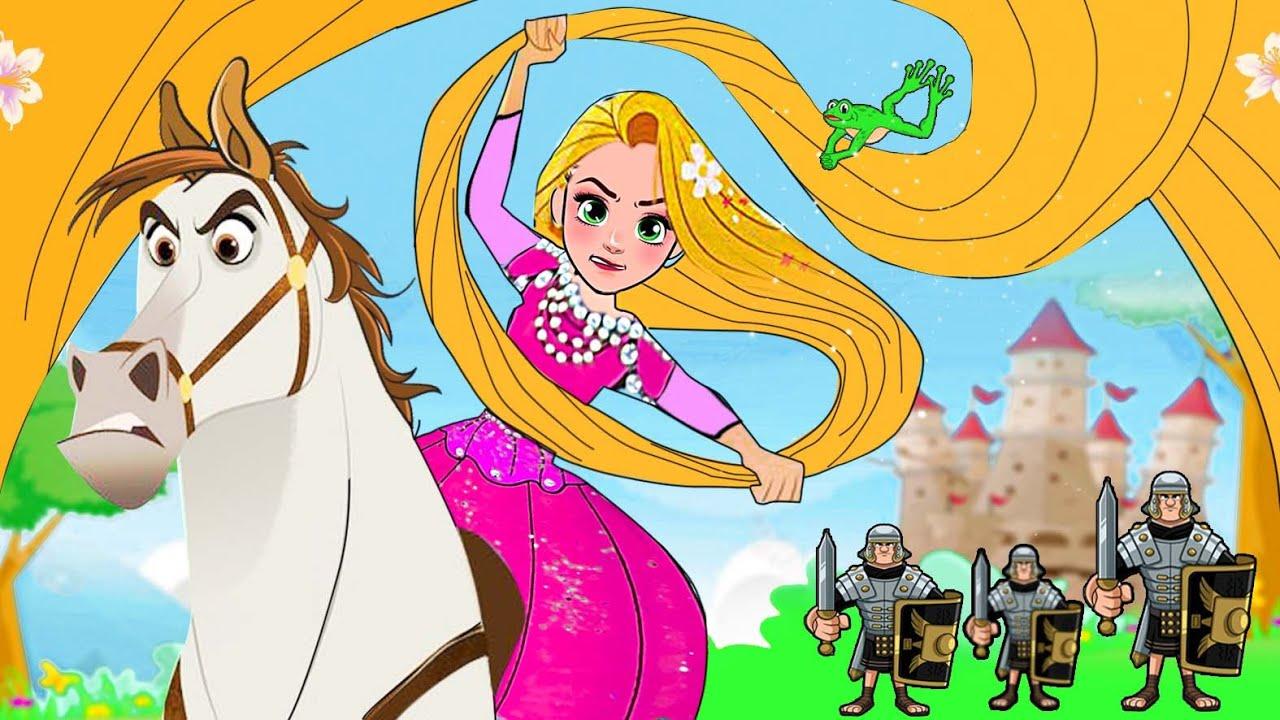 Paper Dolls Dress Up - Rescue Rapunzel Princess Costume Dress Handmade - Barbie Story & Crafts