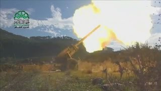 Syrian Islamist rebels upload video of cannon assault