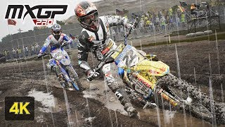 Games in 4K - MXGP PRO - RAIN Onboard Race at Frauenfeld Switzerland - Kevin Strijbos - Stage #15
