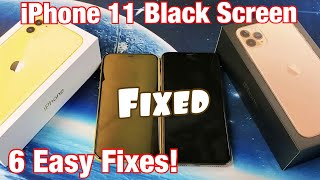iPhone 11 / 11 Pro Max: Black Screen FIXED!  Try these 6 Easy Solutions First!