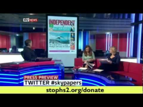 £33bn HS2 budget already derailed: Sky News discusses the Independent on Sunday report
