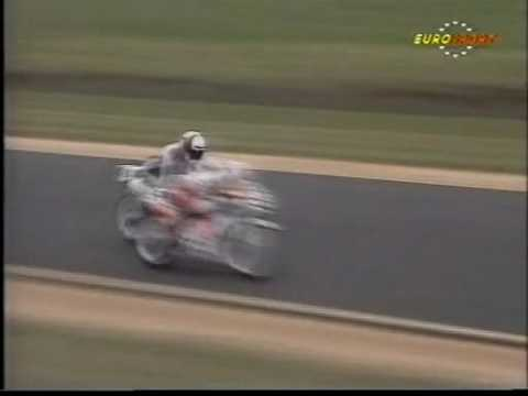 125cc 1990 Phillip Island Spaan tries to punch Gresini during race