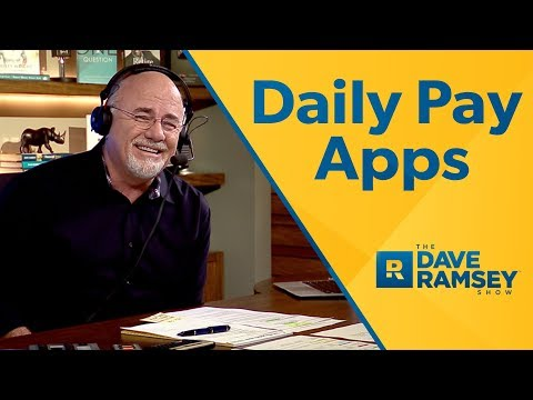New App Let's You Get Paid Daily - Dave Ramsey Rant