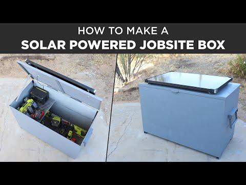 Making a Solar Powered Jobsite Box